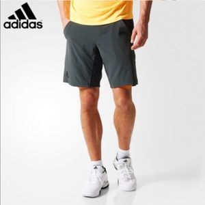 Adidas Adizero Tennis Shorts Solid Gray and Orange